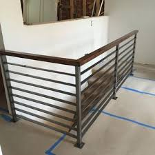 metal landing banister and railing custom railings and handrails custommade com