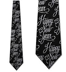 happy new year tie black formal necktie by three rooker at