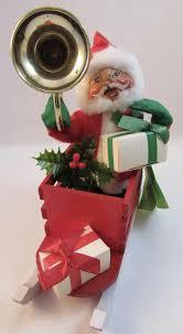 vintage annalee santa in christmas sleigh 1965 sold on ruby