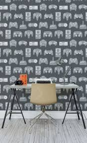 21 best retro wallpaper murals images on pinterest retro grey retro game wall mural