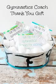 make thank you gifts like we did with this gymnastics coach
