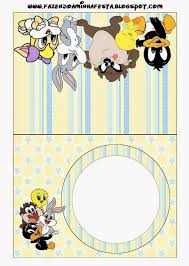 looney tunes babies free printable candy bar labels baby