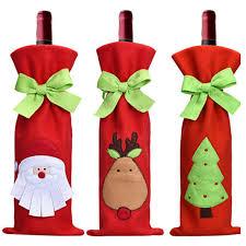 pattern for wine bottle holder 10 pcs lot santa claus christmas tree elk pattern design chagne
