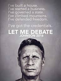 Gary Johnson Memes - let gary johnson debate rebrn com