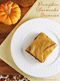 easy fall dessert pumpkin cheesecake brownies recipe