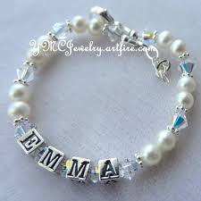baby bracelets with name bracelets ymcjewelry artfire shop