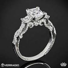 princess engagement rings 18k white gold verragio afn 5029p 4 princess channel set