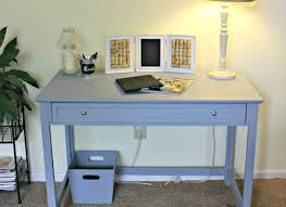 remodelaholic small desk turned large workspace