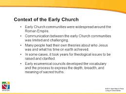 Ecumenical Councils Of The Catholic Church Definition The Development Of Catholic Trinitarian Theology Ppt