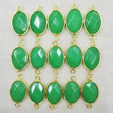 necklace making charms images Fashion 12pcs malaysia jade stone necklace metal connectors for jpg