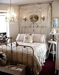 Shabby Chic White Bed Frame by Vintage Metal Bed Frame And Elegant Small Chandelier Design For