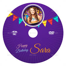 birthday party dvd cover and dvd label template 3 by owpictures