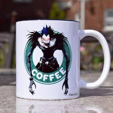 Coffee Mugs For Sale Backordered Death Note Ryuk Starbucks Parody Mug Free Gift