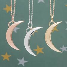 necklace moon gold images Bremer jewelry to the moon back 14k white gold necklace jpg