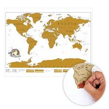 Scratch Off Map World Map With Scratch Off Countries So You Can Mark Where You U0027ve
