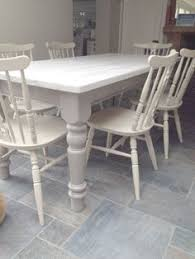 refinished dining table in weathered gray dining table