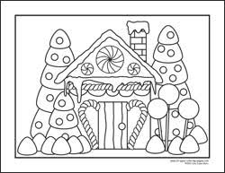 printable gingerbread house colouring page printable gingerbread house coloring pages free coloring page
