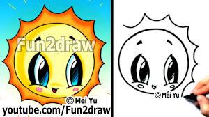 how to draw easy kawaii tutorial easy sun