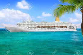 luxury cruise ship sailing from port stock photo picture and
