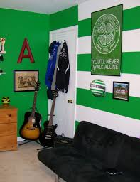 Celtic Home Decor Celtic Fc Hoops And Colors Painted And Decorated In Adam U0027s Bedroom