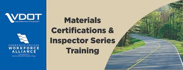 vdot materials certification schools community college workforce