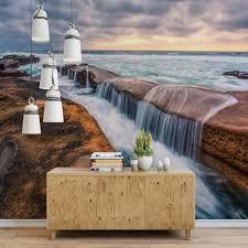 online get cheap natural paper texture aliexpress com alibaba group beach sea waterfall cloud nature 3d mural wall paper living room bedroom wall art decor papel tapiz para paredes 3 d textured