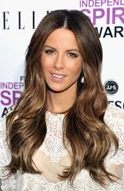gorgeous hair i love the pretty brown color with real techniques brushes samantha chapman kate beckinsale wavy