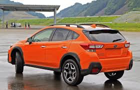 subaru orange crosstrek first look 2018 subaru crosstrek autoz