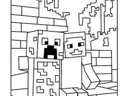 printable minecraft coloring pages ziho coloring