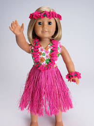 beach themed halloween costumes amazon com cute 6 pc hawaiian for dolls fits 18
