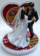 football wedding cake toppers san francisco 49ers football wedding cake topper ebay