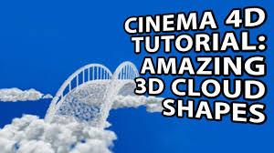 cinema 4d tutorial 3d cloud shapes youtube