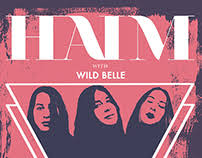 haim poster julie salas on behance