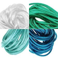 rattail cord satin rattail cord 1mm neon mix 4 color 6 yd ea teal
