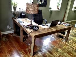 Diy Led Desk Lamp by L Shaped Desk That I Built Out Of Salvaged Floor Boards From An