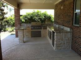 outdoor kitchens and fireplaces contemporary patio houston