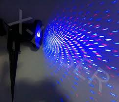 Outdoor Blue Lights Blue Moving Mini Outdoor Garden Laser Light Laser Projector