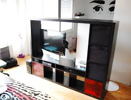 Room Divider Storage Unit - expedit tv storage with rotating tv ikea hackers ikea hackers