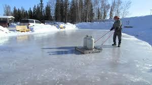 time lapse pioneer park alaskaland ice rink resurfacing youtube