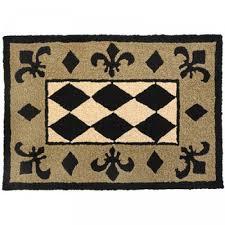 jelly bean indoor outdoor rugs shop jellybean harlequin black tan and beige outdoor door mat