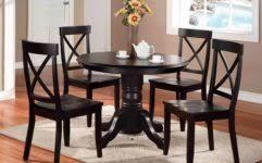 modern black dining room set round stunning small round dining