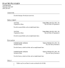 free blank resume templates for microsoft word free blank resume templates for microsoft word free resume