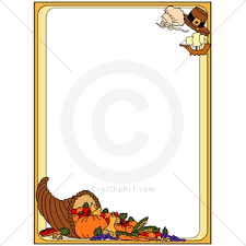 thanksgiving clip and borders 101 clip