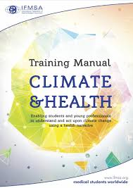 ifmsa training manual on climate u0026 health by international