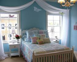 White Contemporary Curtains White Modern Curtains Girls Blue Room Ideas With Wooden Bed Frame