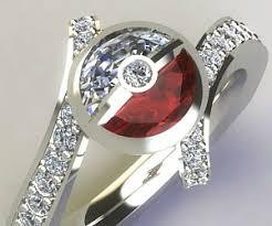 pokeball engagement ring diamond engagement ring