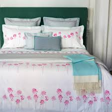 Best Egyptian Cotton Bed Sheets Rivages Bed Linens Includes Printed Floral Top Of The Bed And Bed