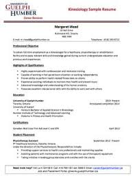 Resume Examples For Waitress by Kinesiology Sample Resume Http Resumesdesign Com Kinesiology