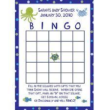 24 baby shower bingo cards under the sea