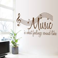 Wallpaper Decal Theme Aliexpress Com Buy 57 106cm Wall Sticker Music Is Feeling Theme